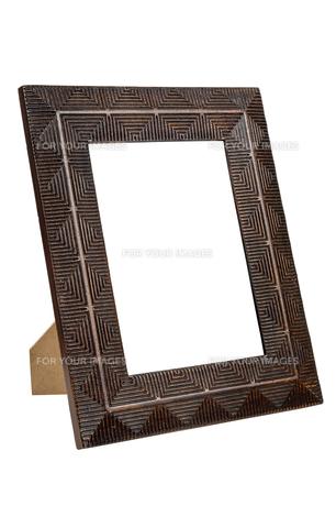decorative bronze empty picture frameの写真素材 [FYI00743267]