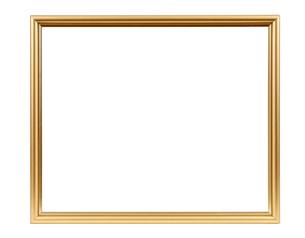 golden decorative empty picture frameの写真素材 [FYI00743273]