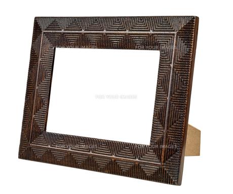 decorative bronze empty picture frameの写真素材 [FYI00743278]