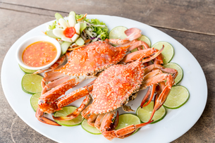 steam crab seafoodの写真素材 [FYI00743327]