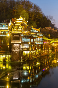 Fenghuang ancient town Chinaの写真素材 [FYI00743333]