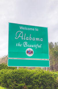 Welcome to Alabama the Beautiful signの写真素材 [FYI00743557]
