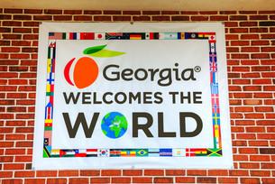 Georgia welomes the world signの写真素材 [FYI00743563]