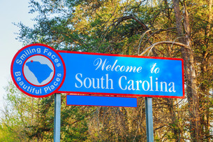 Welcome to South Carolina signの写真素材 [FYI00743565]