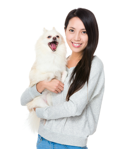 Woman with her happy doggyの写真素材 [FYI00743776]