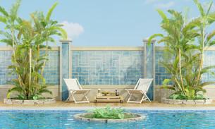 Tropical gardenの写真素材 [FYI00743918]