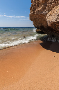 Panorama of the beach at reef, Sharm el Sheikh, Egyptの写真素材 [FYI00743967]