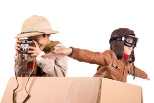 Boys playing adventureの写真素材 [FYI00744054]