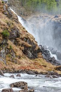 waterfall in Norwayの写真素材 [FYI00744463]