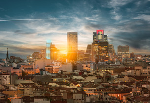Madrid skylineの写真素材 [FYI00744894]