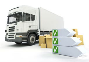 Truck delivery checklistの写真素材 [FYI00744896]