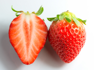 strawberry and a halfの写真素材 [FYI00744918]