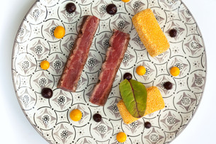 Beef and polentaの写真素材 [FYI00744940]