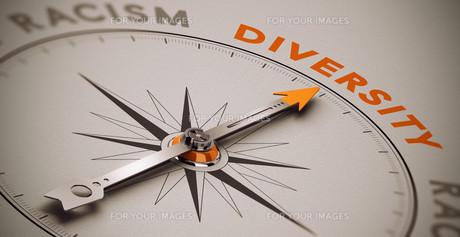 Racism vs Diversityの写真素材 [FYI00745183]