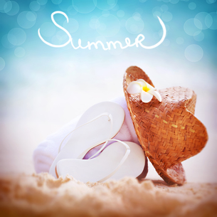 Summer vacation backgroundの写真素材 [FYI00745221]