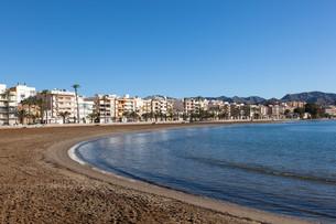 Beach in Puerto de Mazarron, Spainの写真素材 [FYI00745280]