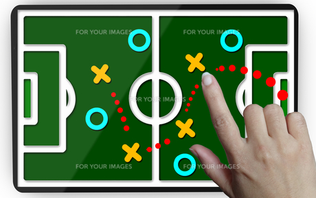Development of a strategy.Hand moving a team to reach the goalの素材 [FYI00745554]