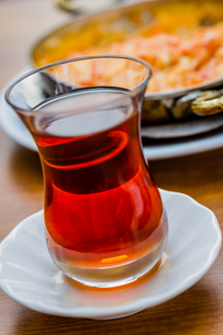 Tea and Menemen, Turkish Breakfastの写真素材 [FYI00745572]