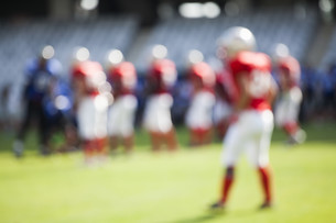 American football game - out of focus backgroundの写真素材 [FYI00745678]