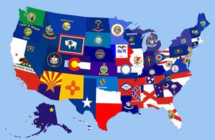 usa states flag mapの写真素材 [FYI00746094]