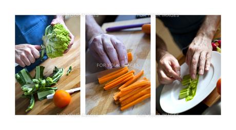 Cutting vegetableの写真素材 [FYI00746508]