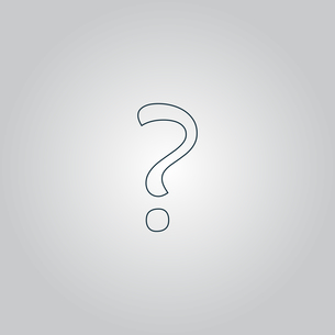Question mark sign icon, vector illustrationの写真素材 [FYI00747300]