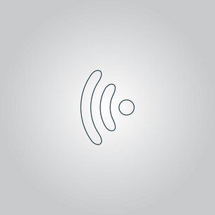 Wireless Icon, vector illustration. Flat design styleの写真素材 [FYI00747301]