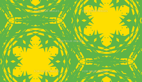 Seamless Yellow Kaleidoscope Patternの写真素材 [FYI00747924]