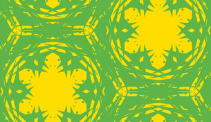 Seamless Yellow Kaleidoscope Patternの写真素材 [FYI00747924]