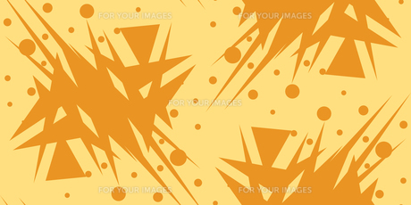 Abstract Shattered Yellow Triangular Shapesの素材 [FYI00747955]