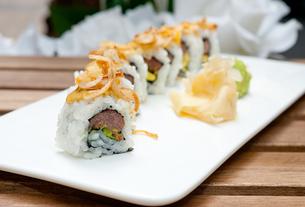 Japanese sushi rolls Maki Sushiの写真素材 [FYI00748011]