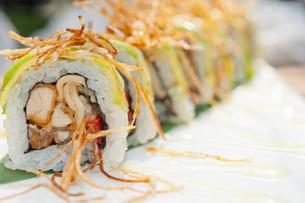 Japanese sushi rolls Maki Sushiの写真素材 [FYI00748018]
