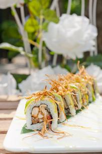 Japanese sushi rolls Maki Sushiの写真素材 [FYI00748019]