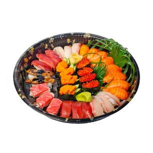 take away sushi express on plastic trayの写真素材 [FYI00748071]