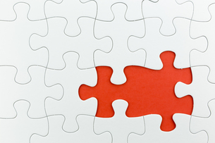 jigsaw puzzle use for business backgroundの写真素材 [FYI00748088]
