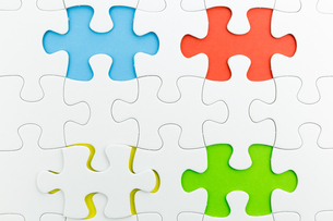 jigsaw puzzle use for business backgroundの写真素材 [FYI00748090]