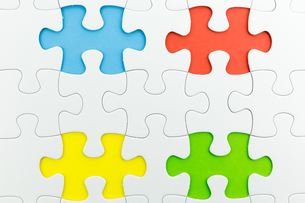 jigsaw puzzle use for business backgroundの写真素材 [FYI00748095]
