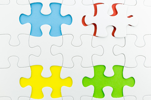 jigsaw puzzle use for business backgroundの写真素材 [FYI00748097]