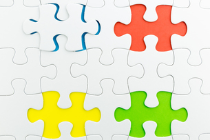 jigsaw puzzle use for business backgroundの写真素材 [FYI00748100]