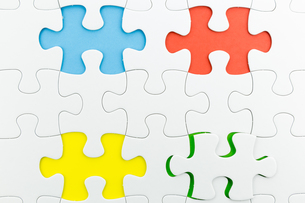 jigsaw puzzle use for business backgroundの写真素材 [FYI00748102]