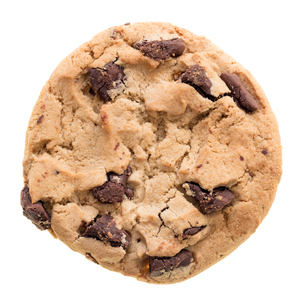 Chocolate chip cookie isolated on white backgroundの素材 [FYI00748154]