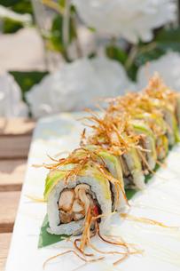 Japanese sushi rolls Maki Sushiの写真素材 [FYI00748312]