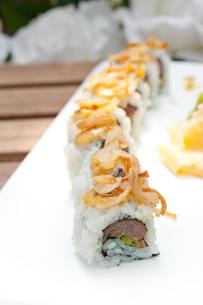 Japanese sushi rolls Maki Sushiの写真素材 [FYI00748314]