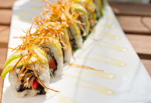 Japanese sushi rolls Maki Sushiの写真素材 [FYI00748323]