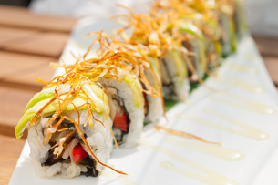 Japanese sushi rolls Maki Sushiの写真素材 [FYI00748331]