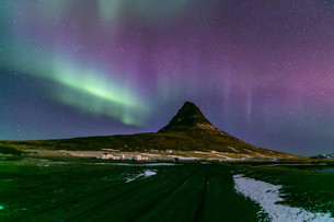 Northern Light Aurora Icelandの写真素材 [FYI00748378]