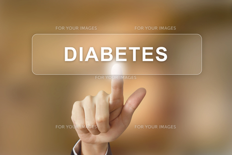 hand clicking diabetes button on blurred backgroundの素材 [FYI00748435]