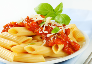 Penne with meat tomato sauceの写真素材 [FYI00748643]
