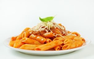 Penne with meat tomato sauceの写真素材 [FYI00748653]