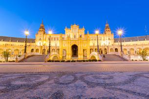 Facade of espana Plaza Sevilleの写真素材 [FYI00748833]